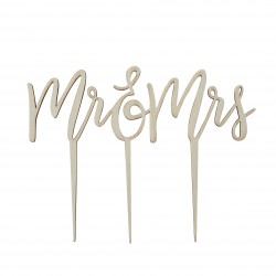 """1 topper """"Mr & Mrs"""" - bois"""